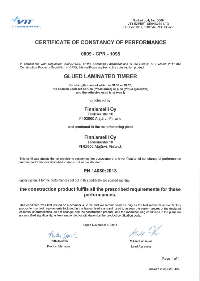 finnlamelli-oy-certificate-clued-laminated-timber-0809-cpr-1095-eng-4-11-2014