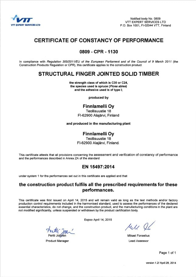 finnlamelli-oy-certificate-structural-fingerjointed-timber-0809-cpr-1130-eng-14-4-2015